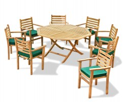 Suffolk Octagonal 1.5m Table & 8 Yale Stacking Armchairs