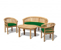 Contemporary Bench, Coffee Table & Armchairs, Banana Furniture Set