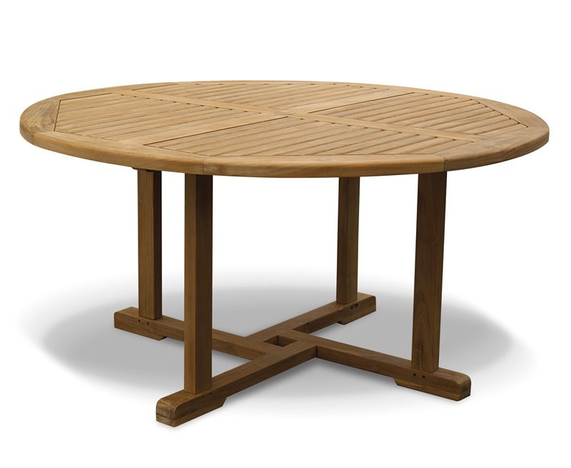Canfield 5ft Teak Round Garden Table – 1.5m