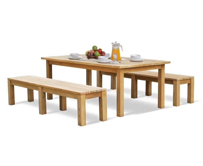 Chichester Teak Garden Table and Benches Set
