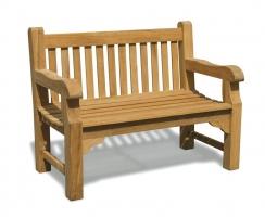 Balmoral Classic Teak Park Bench – 1.2m