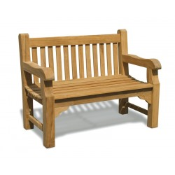 Balmoral 4ft Solid Teak Park Bench – 1.2m