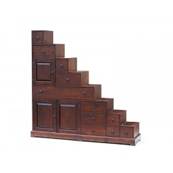 Reversible Antique Step Cabinet, Japanese Kaiden Tansu Step Chest