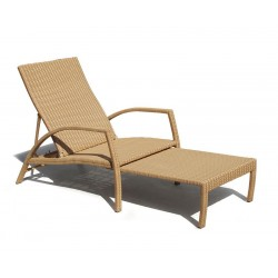Monaco Rattan Garden Sun Lounger, Adjustable Sun Lounger
