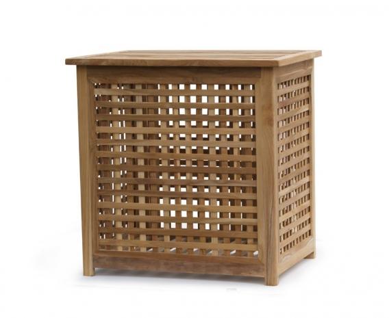Tango Garden Storage Box with lid, Teak Outdoor Storage Chest – Large