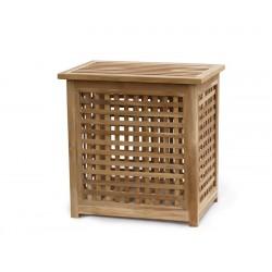 Tango Garden Storage Box with lid, Teak Outdoor Storage Chest – Medium