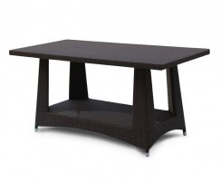 Riviera Rattan Rectangular Dining Table – 0.8 x 1.6m