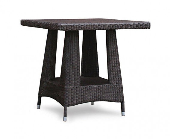 Riviera Rattan Square Dining Table, Loom Weave – 0.8m
