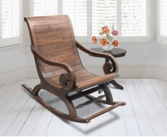 Capri Teak Plantation Rocking Chair, Colonial Garden Rocker