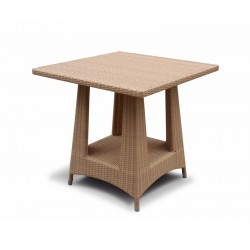 Riviera Rattan Square Dining Table, Flat Weave – 0.8m
