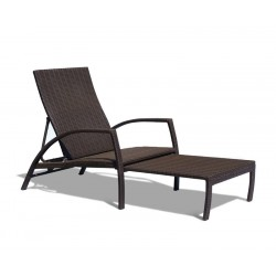 woven all weather wicker sun lounger
