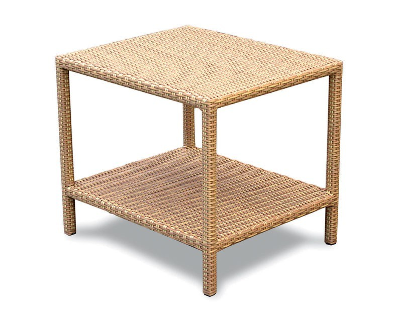 Riviera Rattan Garden Side Table, Wicker Occasional Table