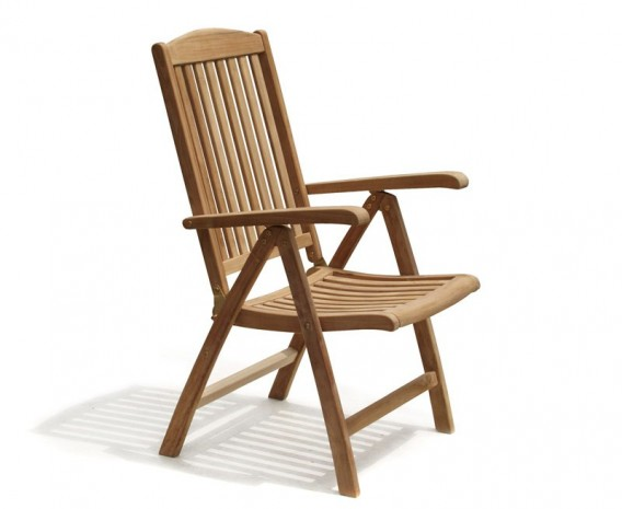 Cheltenham Outdoor Reclining Chair, Teak
