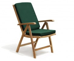 reclining garden armchair with foot stool