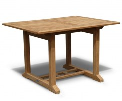 Hilgrove 4ft Rectangular Teak Outdoor Table – 1.2m