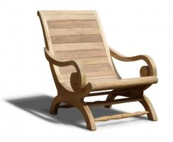 Capri Reclaimed Teak Colonial Plantation Chair, Campeche Chair
