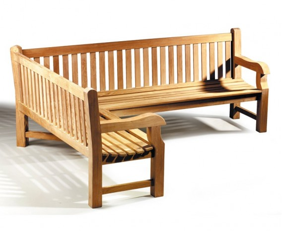 Balmoral Chunky Corner Garden Bench, 5-6 Seater, Left Orientation