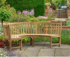 semi circle bench