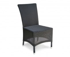 Riviera Rattan Side Chair, Wicker Garden Dining Chair, Loom Weave