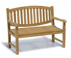Ascot Teak Garden Bench, Outdoor Wooden Bench Seat – 1.2m
