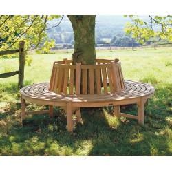Circular Tree Seat, Teak Wooden Tree Bench