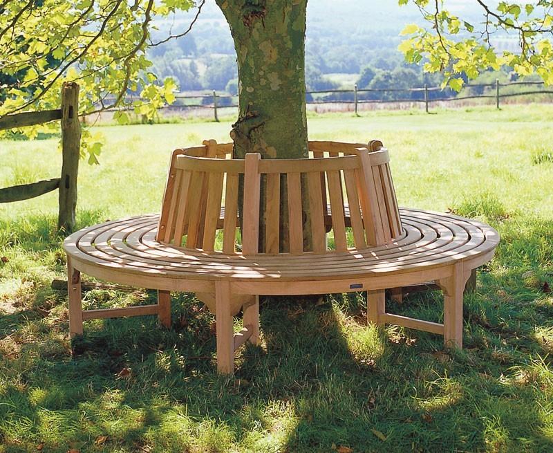Tree Seat Round Circular Teak Bench