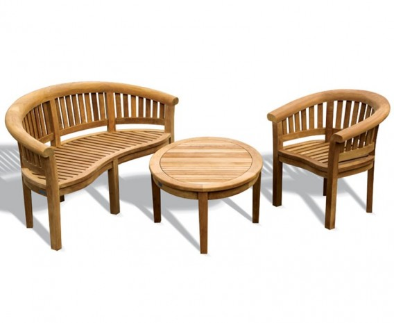 Deluxe Teak Coffee Table Set