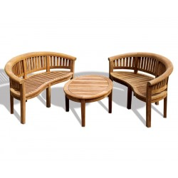 Banana Teak Coffee Table Set