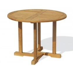 Canfield 1m Round Teak Table Set