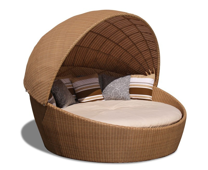 ... Round Wicker Daybed · wicker woven daybed with canopy · rattan ...  sc 1 st  Cyan teak furniture & Oyster Rattan Daybed Round Wicker Daybed