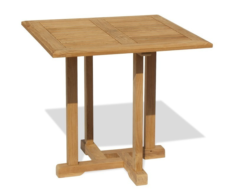 Canfield 80cm Square Table With Monaco Stacking Chair Set