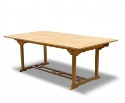 extending garden dining table