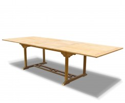 Dorchester Teak Double Extending Garden Dining Table – 1.1 x 2 - 3m