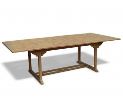 Dorchester Teak Double Extending Dining Table – 1.1 x 1.8 - 2.4m