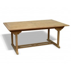 Teak Double Extending Dining Table