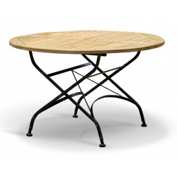 Folding Garden Bistro Table, Round, Raven Black – 1.2m