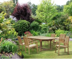 Brompton Bali Outdoor Dining Set with 6 Stacking Chairs
