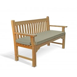 our taverners classic teak wood garden bench features specially styled armrests are wide and flat so they can be used to rest your drinks books snacks