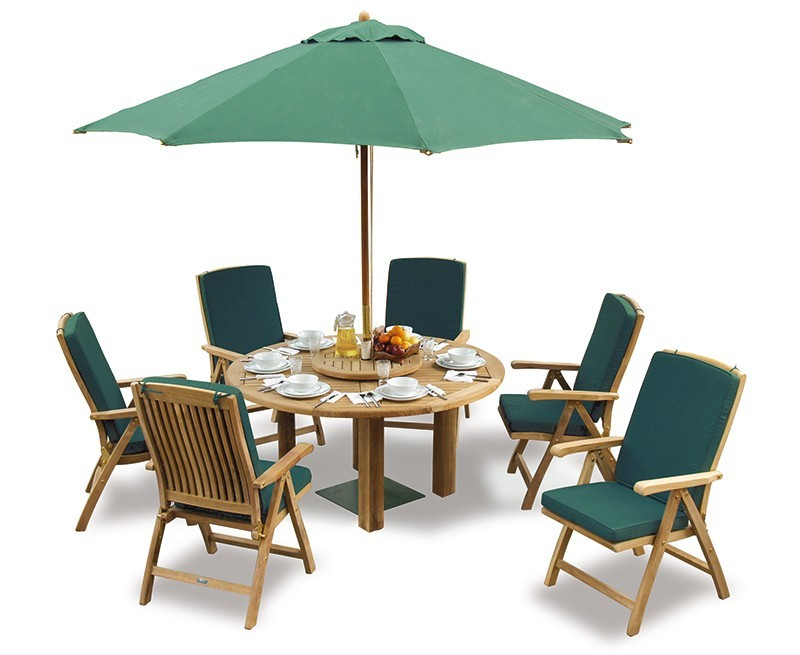 Outdoor Dining Set With Titan Round Table 1.5m & 6 Bali