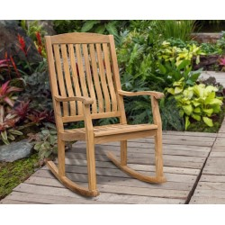 teak garden rocking chair