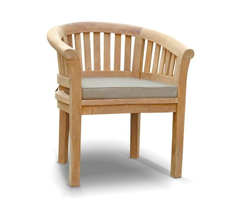 Contemporary Banana Chair Wooden Garden Tub Chair