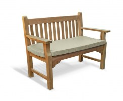solid wood garden bench