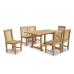 Hilgrove 6 Seater Rectangular Garden Table 1.5m & Clivedon Dining Chairs