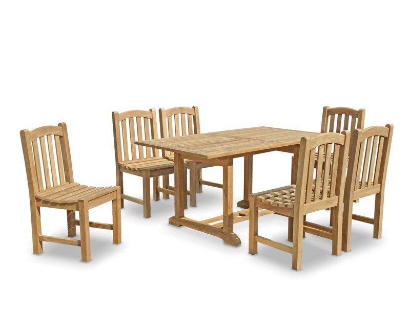 Hilgrove 6 Seater Garden Table and Chairs Set : six seater garden table and chairs teak patio outdoor dining set from www.cyan-teak-furniture.com size 800 x 655 jpeg 56kB