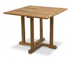 Canfield Small Teak Square Garden Dining Table – 0.9m