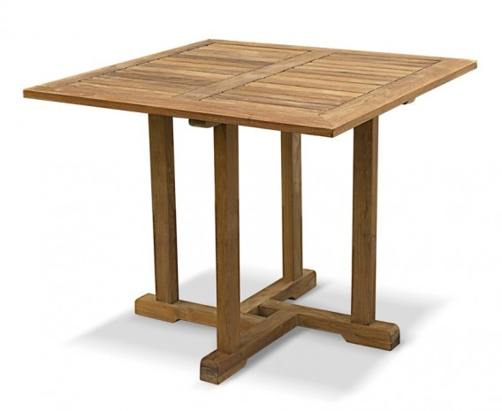 Canfield Teak Small Square Wooden Table – 0.9m