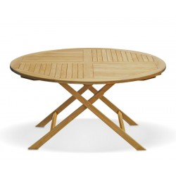 Suffolk 5ft Round Folding Outdoor Dining Table – 1.5m