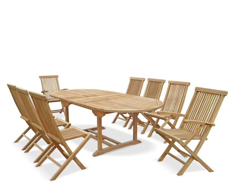 Extending Table Amp 8 Folding Chairs