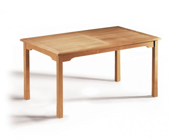 Sandringham Teak Rectangular Garden Dining Table – 1.5m