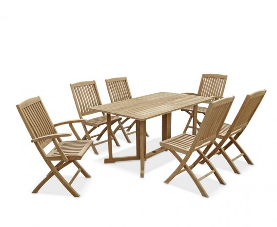 Gateleg Table And 6 Folding Chairs Set